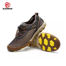 ALDOMOUR Outdoor Shoes Men Lightweight Breathable Mesh Creek Beach Fast Dry Wading Light Fishing Net Water Shoes Aqua Shoes 2279