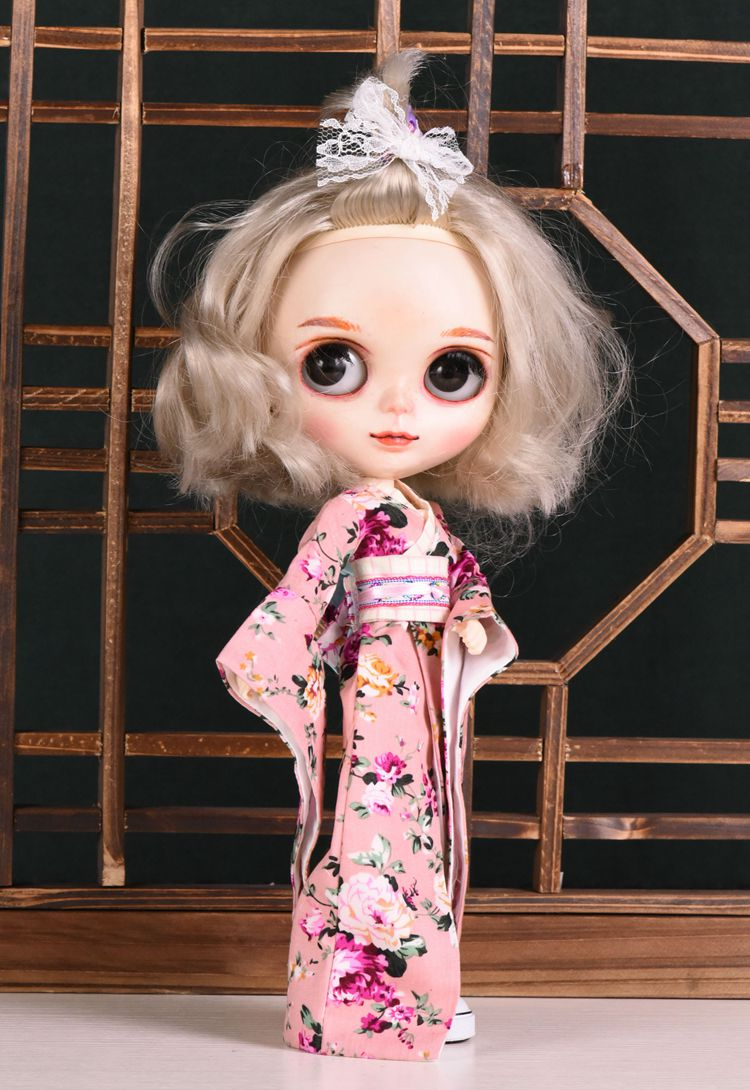 2018 NEW Fashion Doll Clothes Cosplay 1/6 Japanese Kimono For Blyth Doll Clothes Licca Accessories Blyth Doll Dress