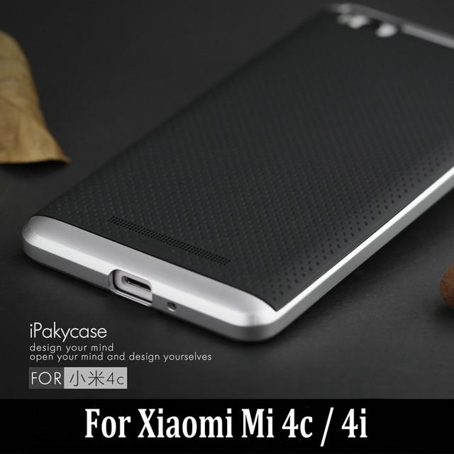 the best attitude cbec5 692eb US $4.99 |Aliexpress.com : Buy For Xiaomi Mi 4C Mi 4i Case iPaky Brand  Luxury Armor Hybrid Silicone Rubber Back Cover with Frame for Xiaomi Mi4c  Mi4i ...