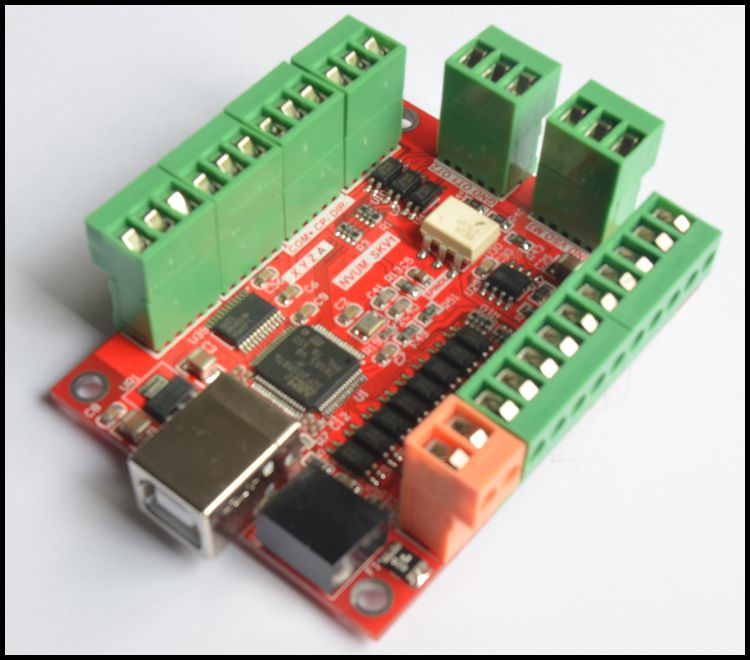 USBMACH3 4 axis interface board, 4 axis motion control board