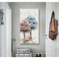 YongHe Nordic Decorative Painting 3D trees Customizable Sizes Spray Painting Oil Paintings Wall Pictures For Entrance of Home