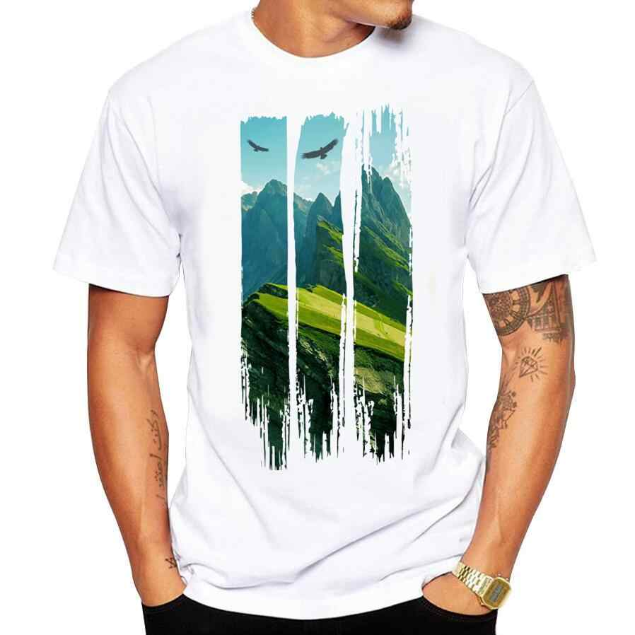 2018 Men Lost in the Wilds Printing Tees Shirt Short Sleeve T Shirt Blouse Fitness O-Neck Modal Fashion Causal T-shirts Summer