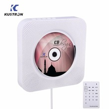KUSTRON Wall Mountable CD Player Bluetooth HiFi CD Music Player with Remote Control FM Radio USB
