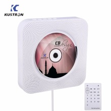 KUSTRON Wall Mountable CD Player Bluetooth HiFi CD Music Player with Remote Control, FM Radio,USB,MP3 3.5MM Headphone Jack