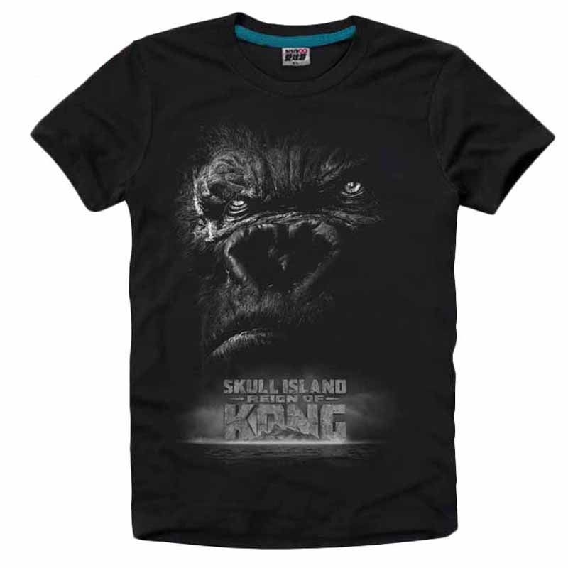 font b Mens b font Casual 2017 Movie Kong Skull Island King Kong Ape Short