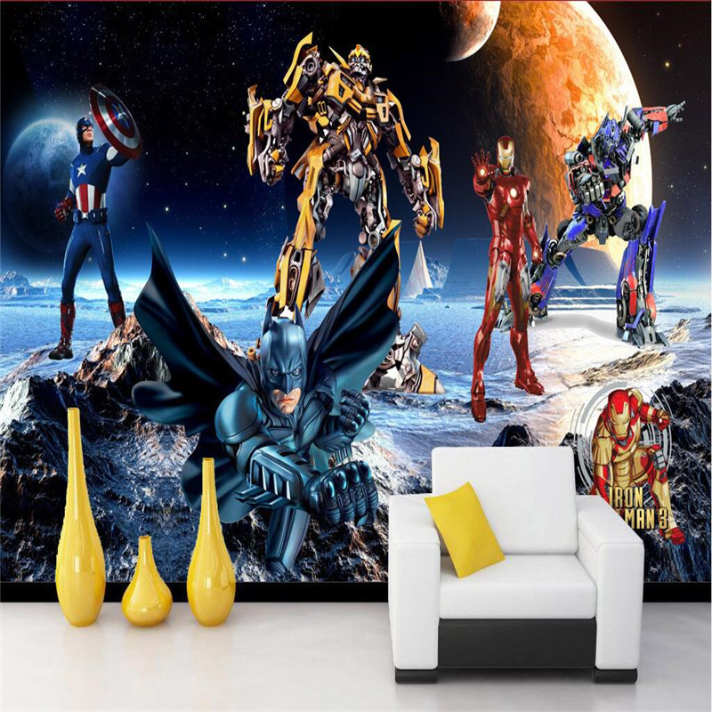Popular transformers bumblebee wallpaper buy cheap for Chinese movie mural