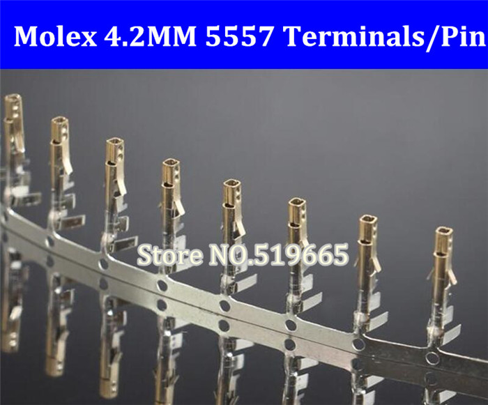 5000PCS LOT Free Shiping Molex 4 2mm 5557 connector plug terminals Gold Wire Cable Housing Female