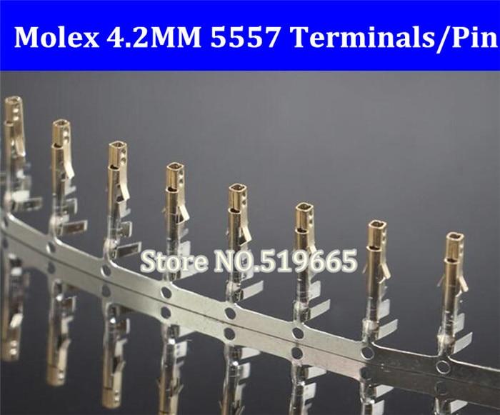5000 PCS/LOT livraison gratuite Molex 4.2mm 5557 connecteur/prise/bornes or, câble boîtier femelle broche
