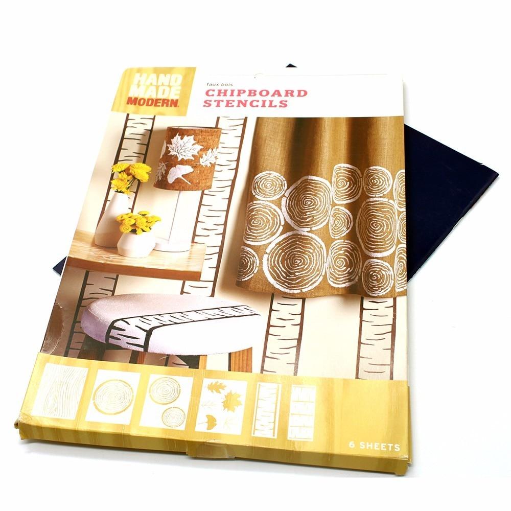 1 unids Plantillas de Pintura de Pared Árbol Herramienta Multiuso - Escuela y materiales educativos