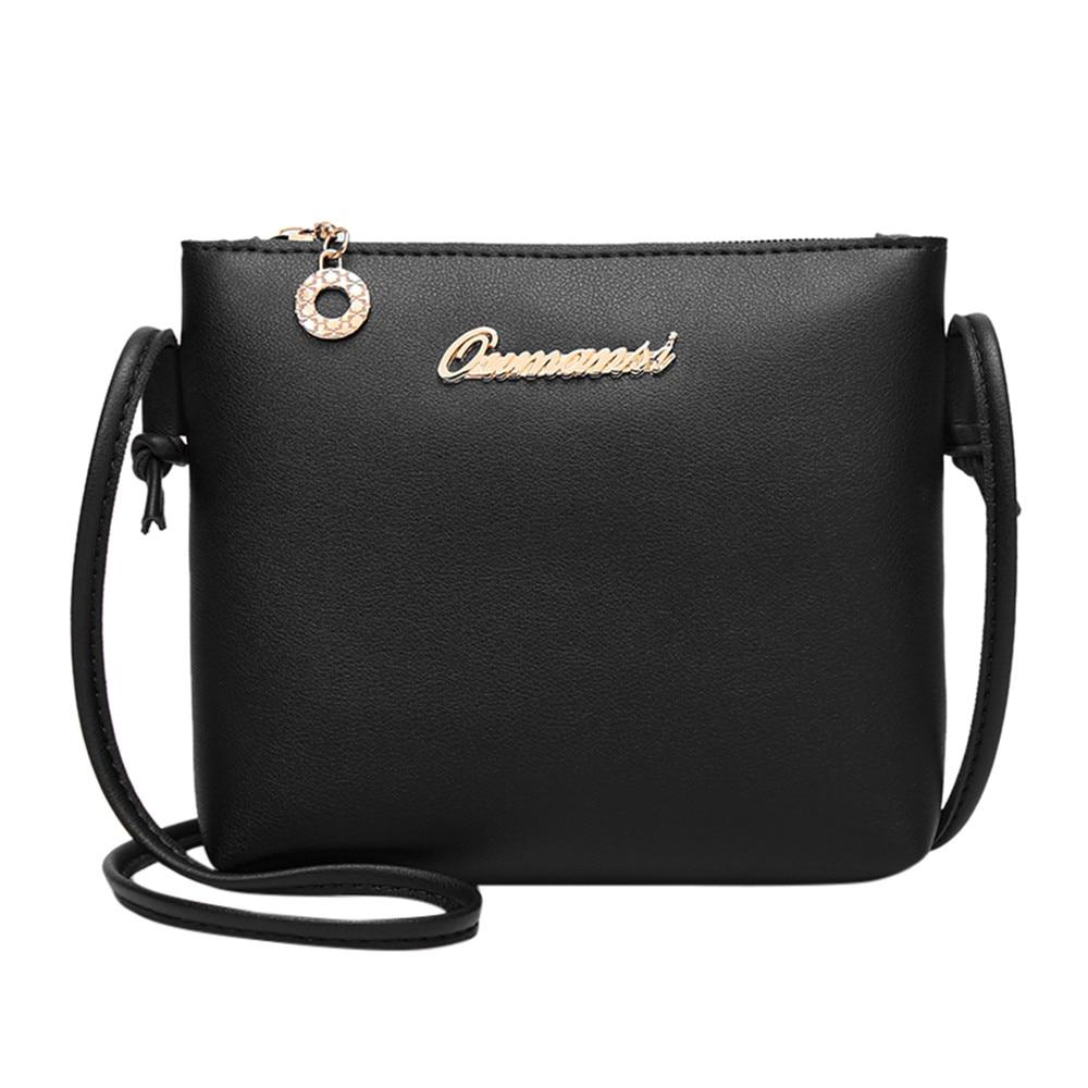 Women Bag Fashion Solid Color Cross body Messenger Bag Phone Coin Bag leather cross bodybags bolsas feminina#75