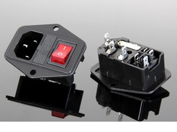 3pcs AC power socket switch with light and fuse socket 15A 250V AC 01 Free Shipping