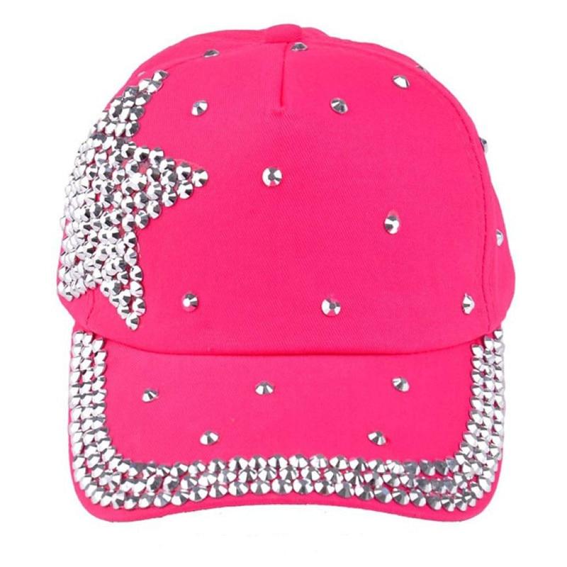 Новые модные простые прозрачные стразы в форме звезды, летняя бейсболка с кристаллами для детей, красивые бейсболки для мальчиков и девочек