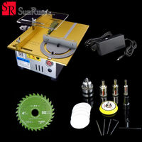 Mini table saw/12V 24V portable DIY wood Cutting machine, desktop buddha beads polish machine,metal/Acrylic cutter