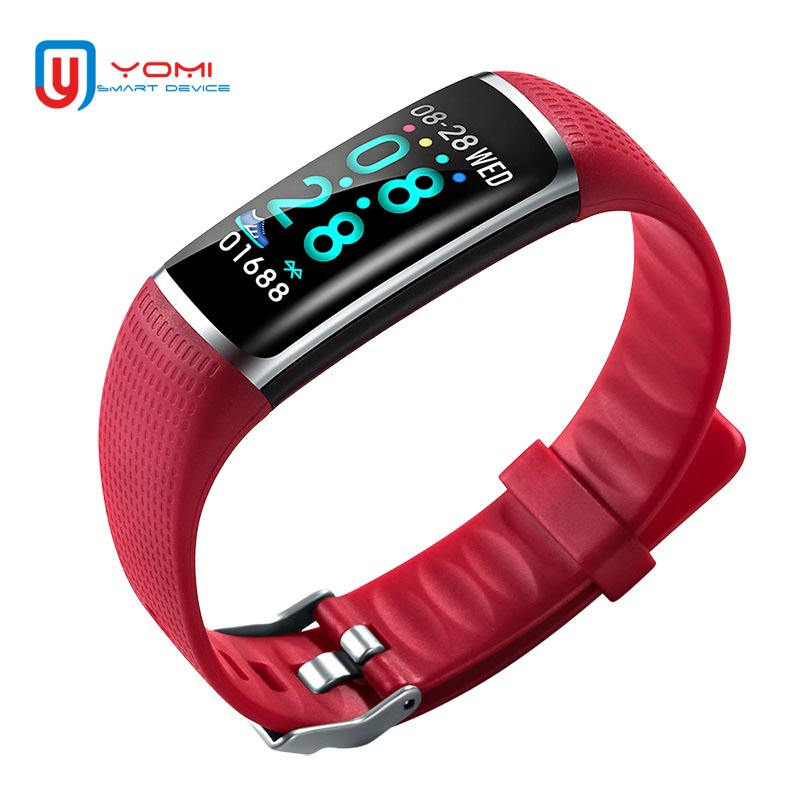 2018 Bracelet intelligent Android IOS montre de santé Bracelet de Fitness traqueur de fréquence cardiaque tension artérielle Smartband pour les femmes dame