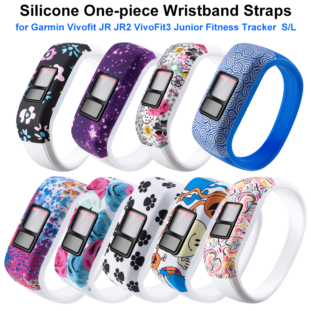 9 Colors 2 Size Soft Wrist Bracelet Band Strap Holder For Garmin VivoFit Jr/for Garmin VivoFit JR 2 JR2  Silicone Watch Band