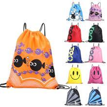 School Drawstring Shoes Bag Football Toys Storage Bag Backpa