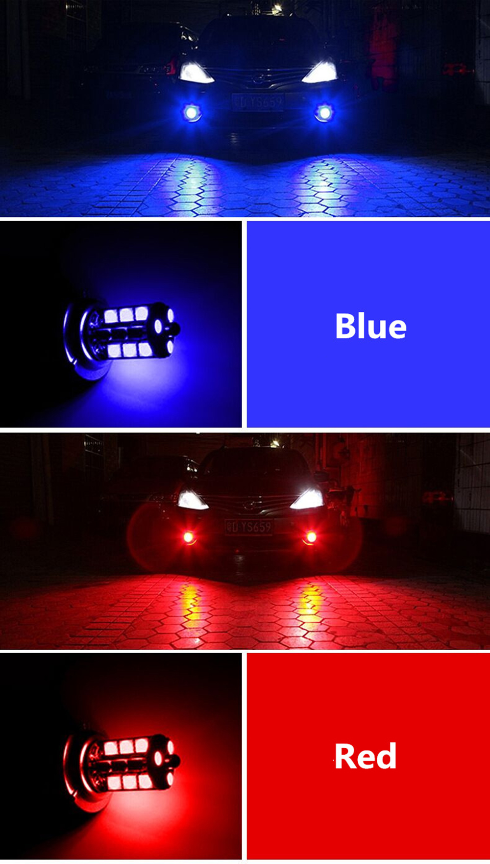Branco Luzes Diurnas DRL Nevoeiro 12V Driving Lâmpada luz 6000K