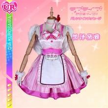 Anime Love Live Sunshine AZALEA GALAXY Cosplay Costume Dia Kurosawa Pink Dress wing Full sets A