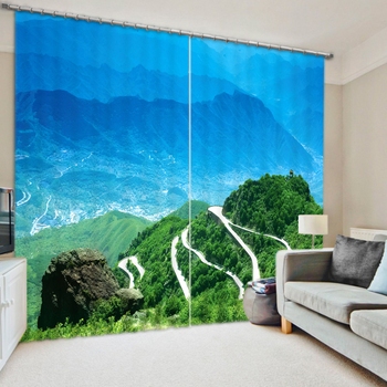 BeautifulLuxury 3D Blackout Window Curtains For Home Decor Living room Bedding room Tapestry Wall Carpet Drapes Cotina para sala