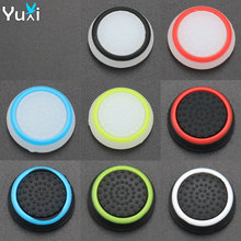 YuXi 8pcs Silicone Analog stick Cap Cover For PS3 PS4 Pro Slim Controller Stick Grip For Xbox 360 One