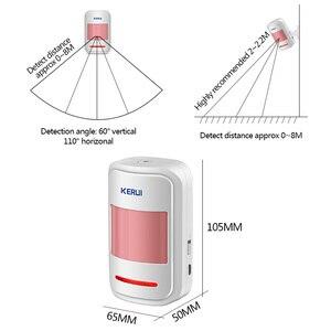 Image 5 - Oryginalny KERUI WIFI GSM włamywacz System alarmowy SMS kontrola aplikacji domu czujnik ruchu PIR czujnik drzwi czujnik alarmowy Alarm