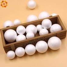 10PCS 30-50MM DIY White Foam Ball Modelling Polystyrene Styrofoam Craft Supplies Kids Gift Christmas Party Decorations