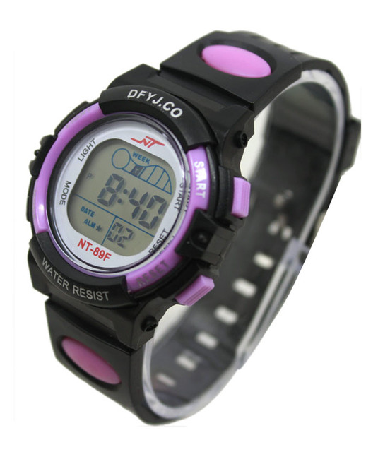 2017 Hot Sale Children Digital Watch for Girls Boys LED Digital Sports Watches Silicone Rubber Kids Alarm Date Casual Watch