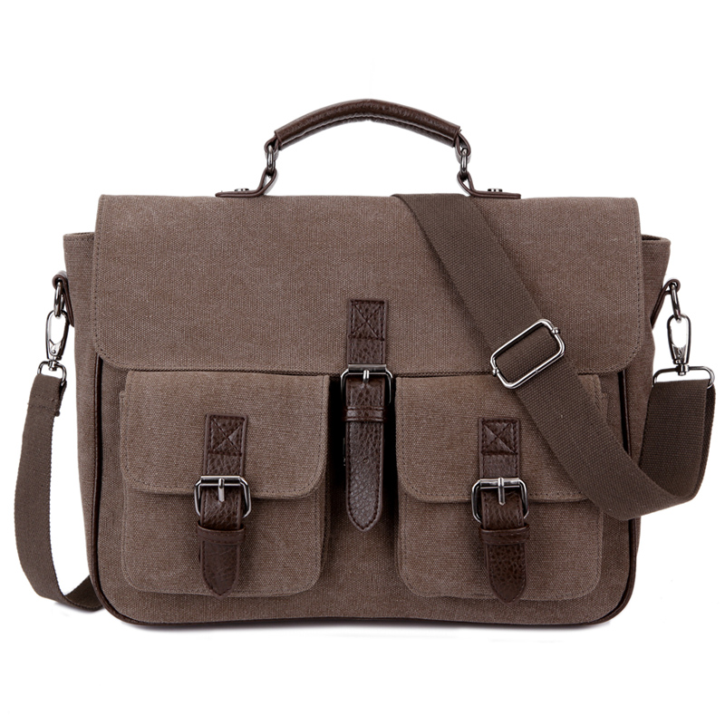 New Waterproof Men Shoulder Bag Canvas Vintage Crossbody Bags For Men Handbag Messenger Satchel Bag Business Men Briefcase 1282 vintage crossbody bag military canvas shoulder bags men messenger bag men casual handbag tote business briefcase for computer