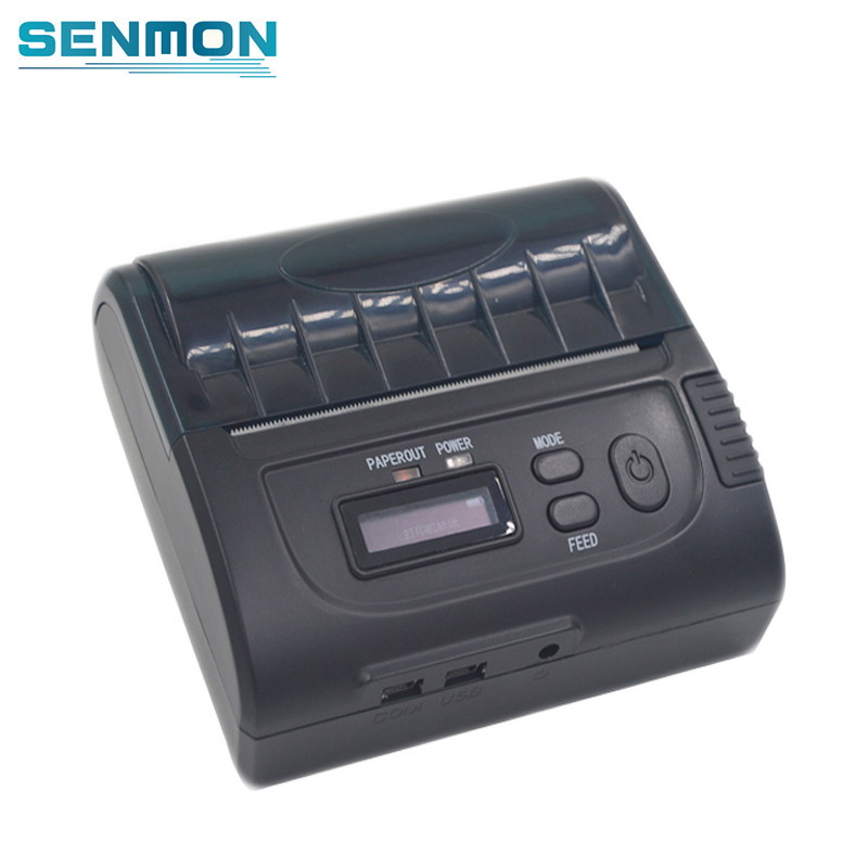 80 mm Bluetooth Thermal Printer LCD USB 80mm Thermal Bluetooth Receipt Printer IOS Android Protable Printer