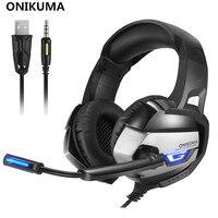 ONIKUMA K5 3 5mm Game Gaming Headphone Headset Earphone With Mic LED Light For Laptop Tablet