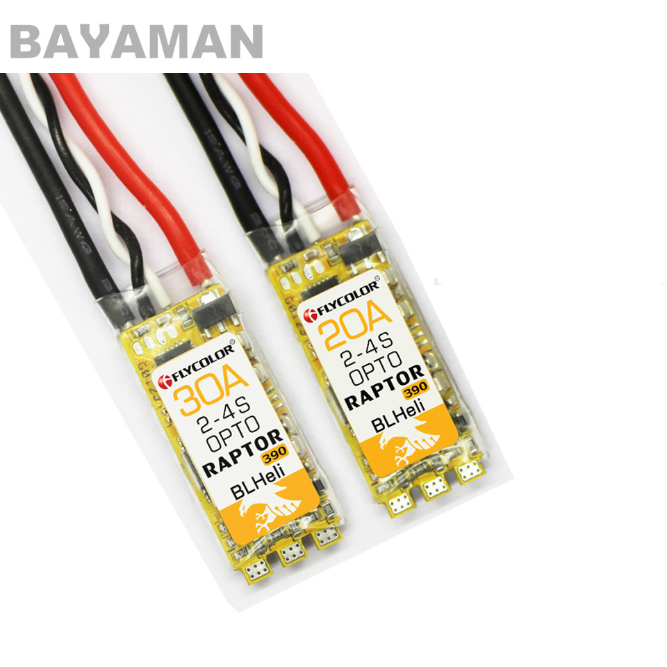 2pcs Flycolor Raptor BLS Pro 20A/30A BLHeli-S ESC Speed Controller Brushless ESC for RC Multicopter Drones