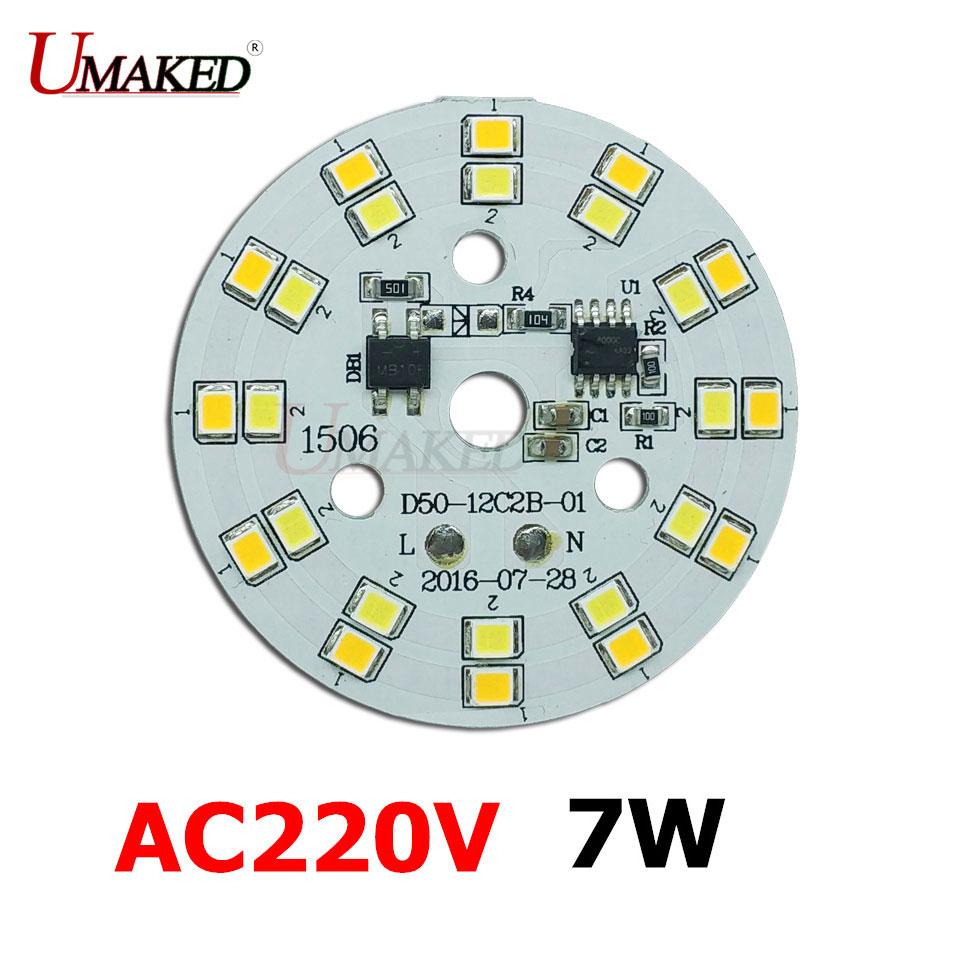 ٩(^‿^)۶7W 50mm ac220v dimming pcb panel board, Driverless led pcb ...