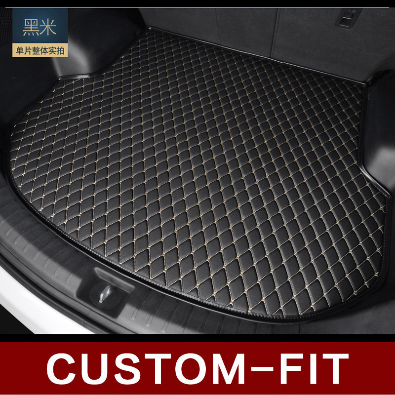 Custom fit car trunk mat for TOYOTA LAND CRUISER AURIS AYGO CAMRY CALDINA CHASER CARINA  car-styling tray carpet cargo liner fit car custom trunk mats cargo liner for toyota camry corolla rav4 verso reiz car styling 5d carpet rugs