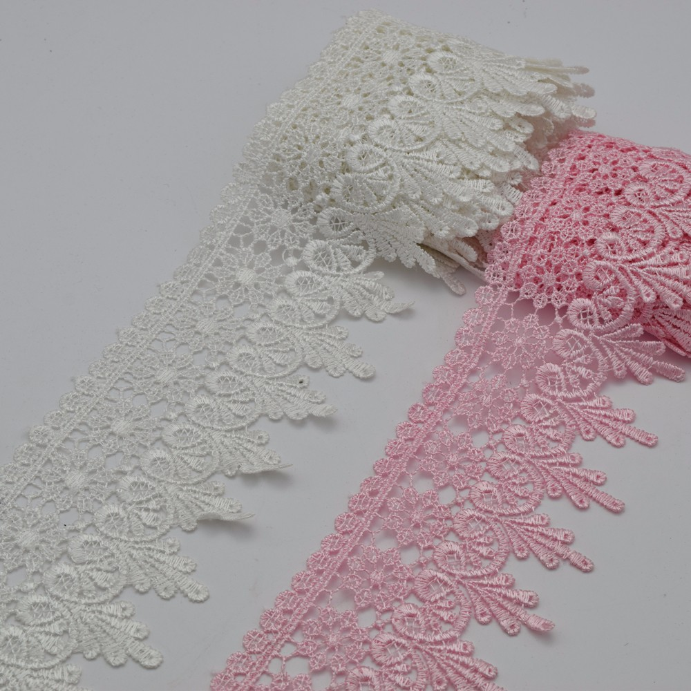 """Venise Lace  selling by the yard 3.5/"""" White Venice Lace Trim"""
