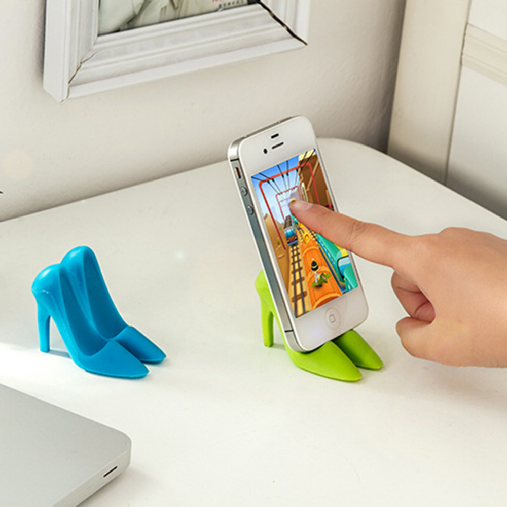 2018 New High-heeled Shoes Mobile Phone Tablets Holder Innovative Silicone Stand for xiaomi/iPhone mobile phone