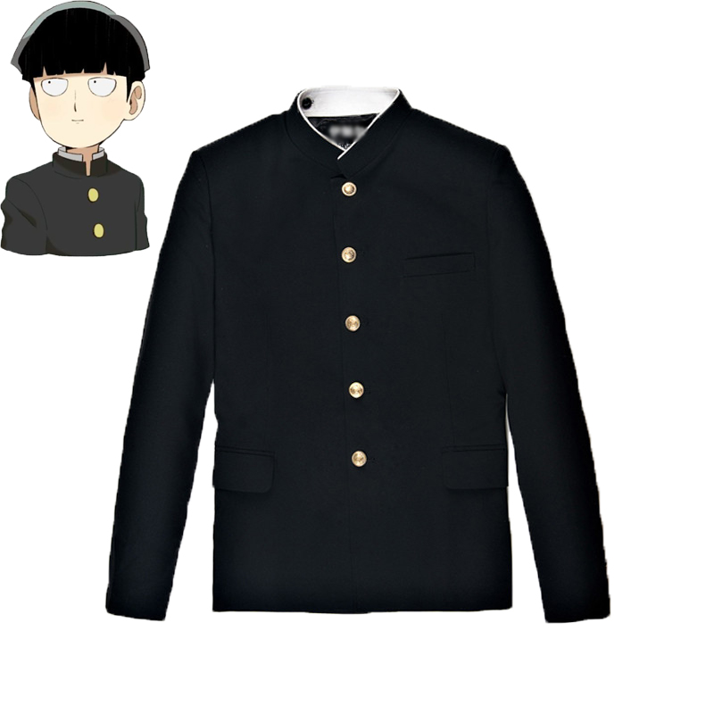 Mob Psycho 100 Mobu Saiko Hyaku Kageyama Shigeo Cosplay Costume Black Gakuran Suits Pants S-4XL(China)