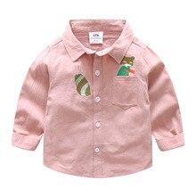 2018 new spring baby cartoon shirt boy kids children lapel jacket wt-8499
