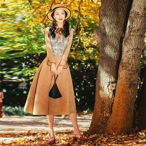 Image 2 - Alta qualidade explosões lazer combinando vestidos feminino xadrez primavera verão vestido casual
