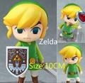 Frete grátis The Legend of Zelda Jogo Legend of Zelda Link Nendoroid PVC Action Figure 10 CM Q Ver. Collectible Modelo Toy Boneca