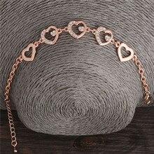 Women's Cute Heart Themed Link Bracelet