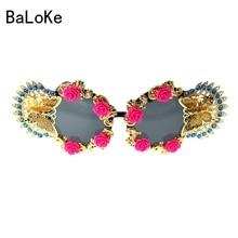 2018 Baroque Sunglasses Women Summer Flower Retro Sunglasses Cat Eye Glasses For Ladies Brand Designer Oversize Sungasses #D4069