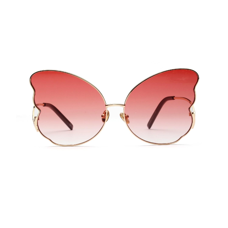 Nx Pink tea Sexy Brand Sole Occhiali Cornice Signore Designer Fashion Cat Farfalla Luxury Femmina gray Da blue blue Pink La Per Donne RwCqwFZ