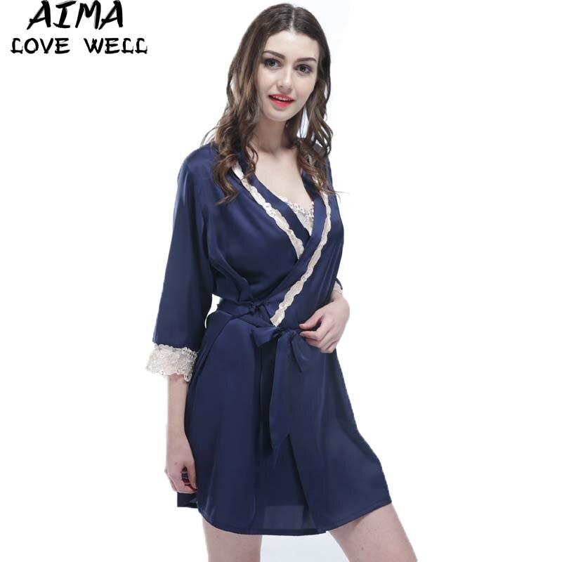 Silk Dressing Gowns Ladies: 2018 Sexy Summer Dress Silk Robe Women's Pajamas Lace