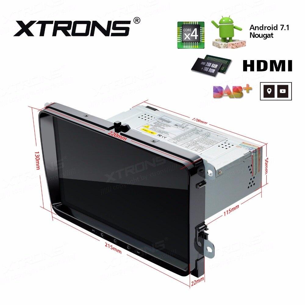 Xtrons 1 DIN 9 Android 7.1 4 ядра Радио видео GPS HDMI dvd плеер автомобиля для VW Гольф плюс Passat CC TOURAN Tiguan seat skoda