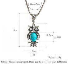 Owl Small Pendant Long Chain Necklace