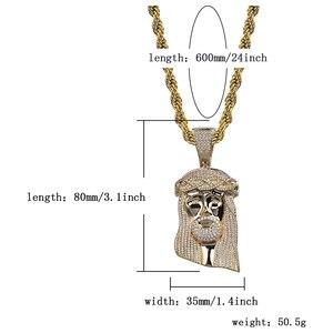 Image 5 - TOPGRILLZ nouveau pendentif de corail jésus, bijoux hip hop, collier de pierres CZ à la mode, lien en Zircon cubique, cadeau pour hommes et femmes