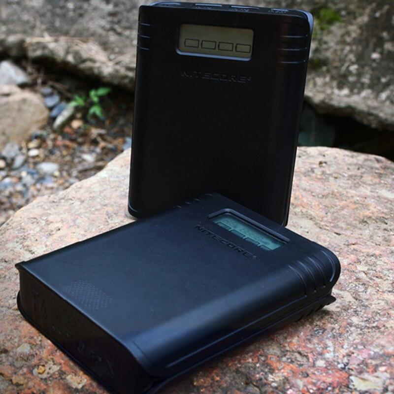 Nitecore f4 quatro-slot flexível power bank carregador de bateria para li-ion/imr 18650 lcd em tempo real display