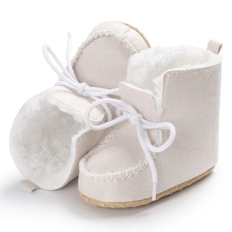 sapatos de pele de lã meninas do