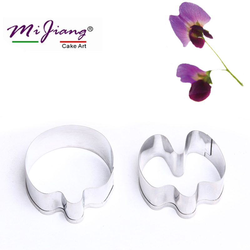 Pea Flower Petals Fondant Cake Mold Stainless Steel Pastry Cookie Cutters Cake Decorating Tools Kitchen Baking Accessories A364
