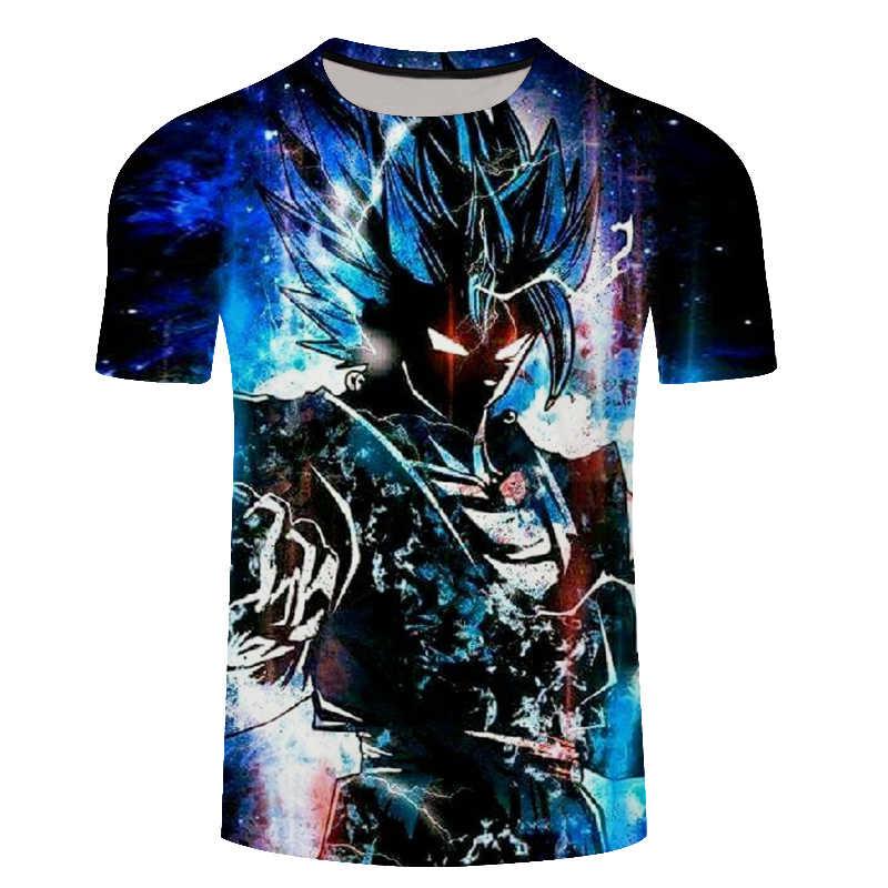 Плюс Размер 6XL Dragon Ball Goku модная футболка новые летние 3D мужские/женские футболки аниме Harajuku мастер Роши Lonzo Ball футболки